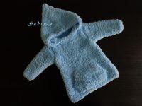 Dětský pletený svetr - bleděmodrý ( 74/80 )