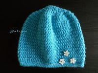 Dětská háčkovaná čepice - světle modrá