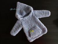Dětský pletený svetr - světle šedý ( 62/68 )