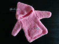 Dívčí pletený svetr - růžový ( 62/68 )