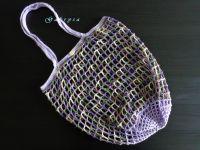 Háčkovaná síťovka - barevná fialová