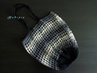 Háčkovaná síťovka - barevná šedá