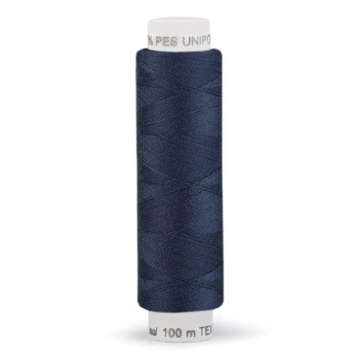 Niť UNIPOLY 100m - temně modrá Hagal