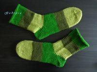 Pletené ponožky - zelené ( 42 )