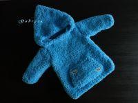 Chlapecký pletený svetr - tyrkysový ( 74/80 )