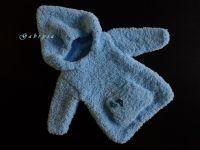 Dětský pletený svetr - bleděmodrý ( 62/68 )
