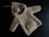 Dětský pletený svetr - světle hnědý ( 62/68 )