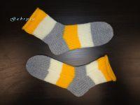 Pletené ponožky - žluté ( 36/37 )