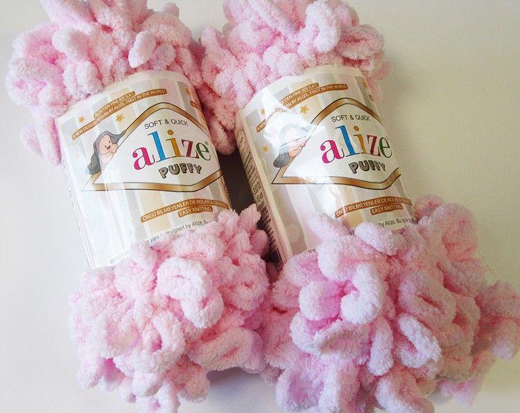 Příze Puffy - světle růžová Alize