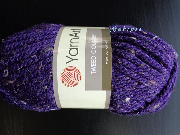 Příze Tweed Country - tmavě fialová YarnArt