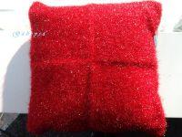 Pletený polštář - červený Gabrysa