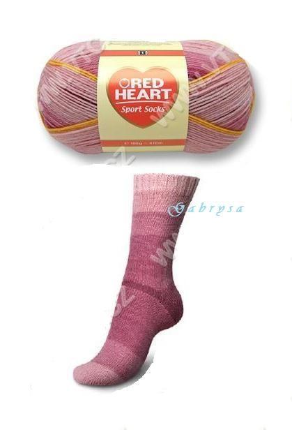Ponožková příze - vínová Red Heart