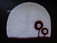 Dívčí háčkovaná čepice - bílá