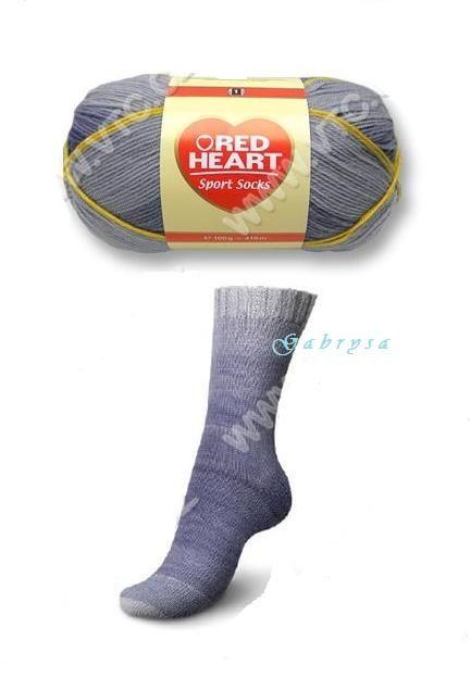 Ponožková příze - džínová Red Heart