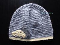 Chlapecká háčkovaná čepice - světle šedá