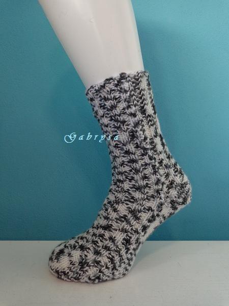 Pletené ponožky - bílošedé ( 36/37 ) Gabrysa