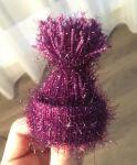 Příze Christmas - tmavě fialová YarnArt