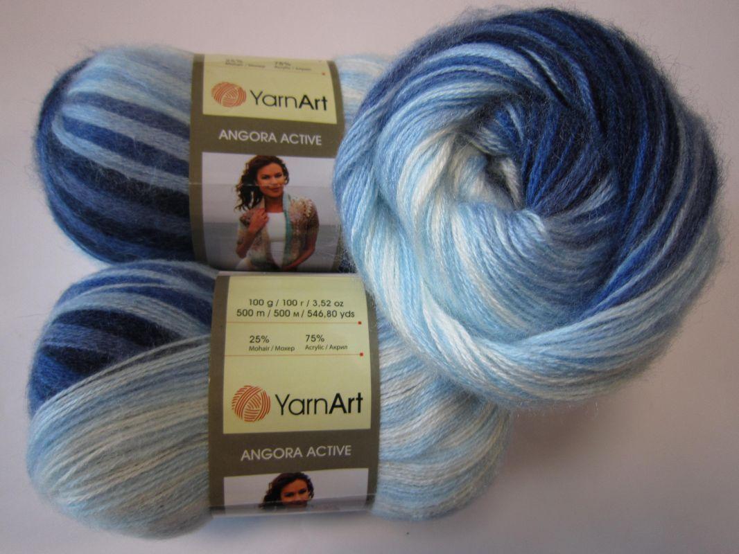 Příze Angora Active - tmavě modrá YarnArt