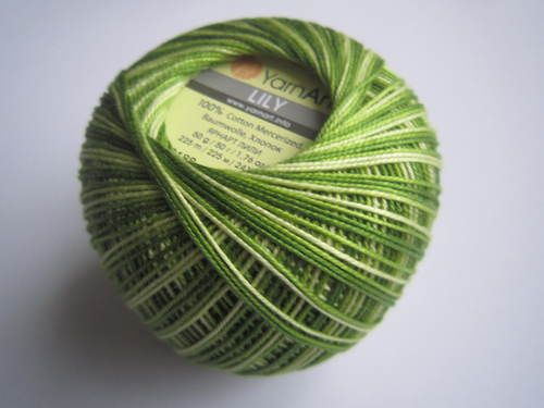 Příze Lily Melange - zelená YarnArt