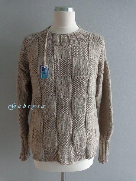 Dámský pletený svetr - béžový ( 36/38 ) Gabrysa