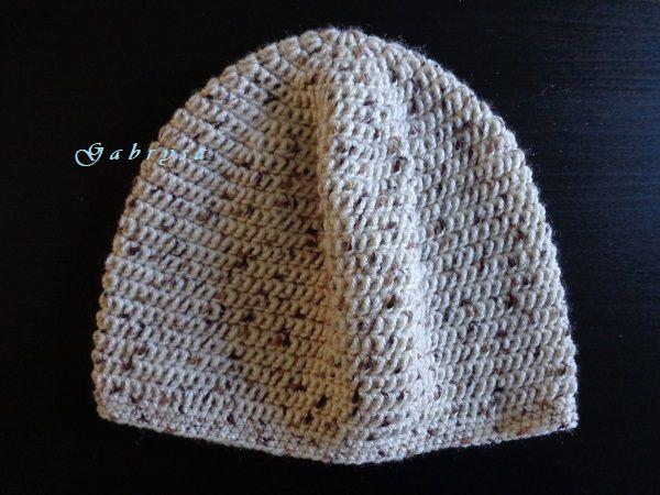 Dětská háčkovaná čepice - hnědá Gabrysa