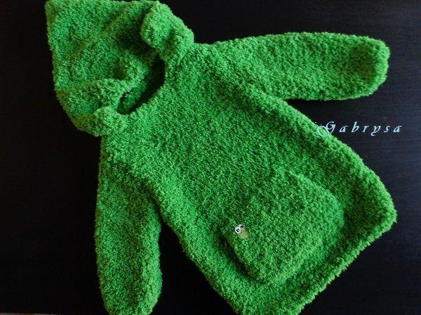 Dětský pletený svetr - zelený ( 92 ) Gabrysa