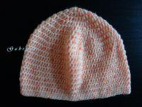 Dívčí háčkovaná čepice - neonově oranžová Gabrysa