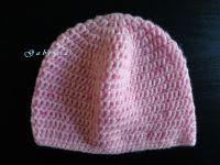 Dívčí háčkovaná čepice - růžová Gabrysa