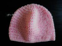 Dívčí háčkovaná čepice - růžová