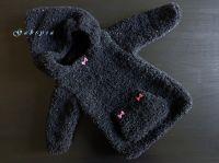 Dívčí pletený svetr - černý ( 74/80 ) Gabrysa