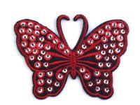 Nažehlovačka motýl s flitry - 5 barev ???