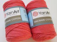 Macrame Cotton - růžovočervená
