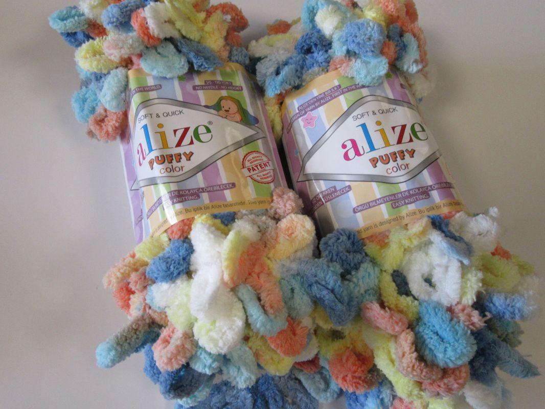 Příze Puffy color - barevná Alize