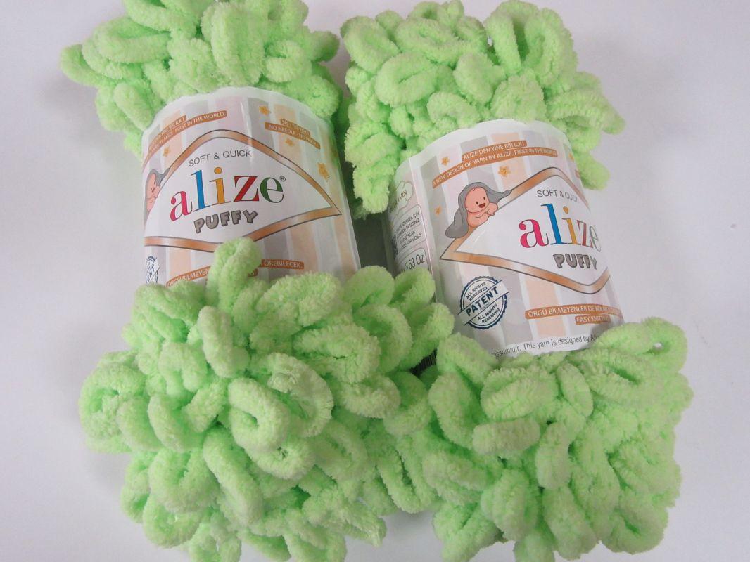 Příze Puffy - světle zelená Alize