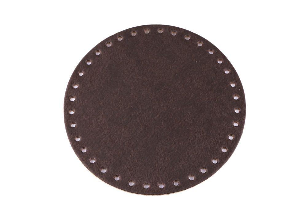 Dno na kabelku Ø16 cm - tmavě hnědé Itálie