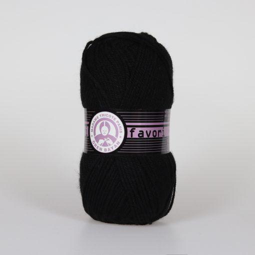 Příze Favori - černá Madame Tricote Paris