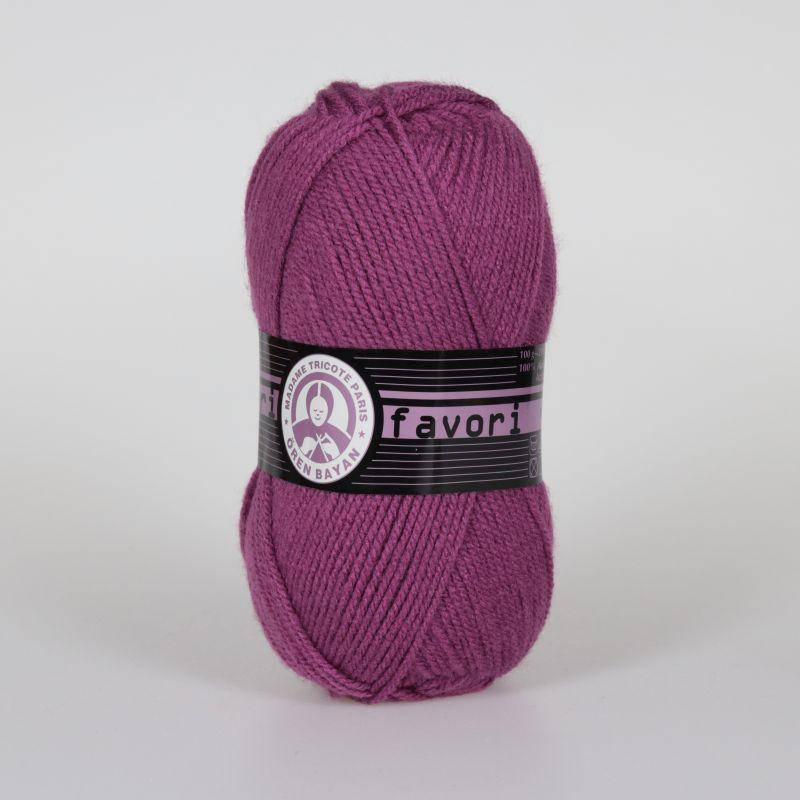 Příze Favori - fialovorůžová Madame Tricote Paris