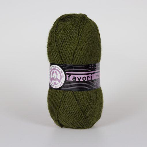 Příze Favori - khaki Madame Tricote Paris