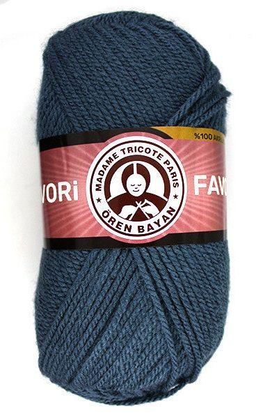 Příze Favori - modrošedá Madame Tricote Paris