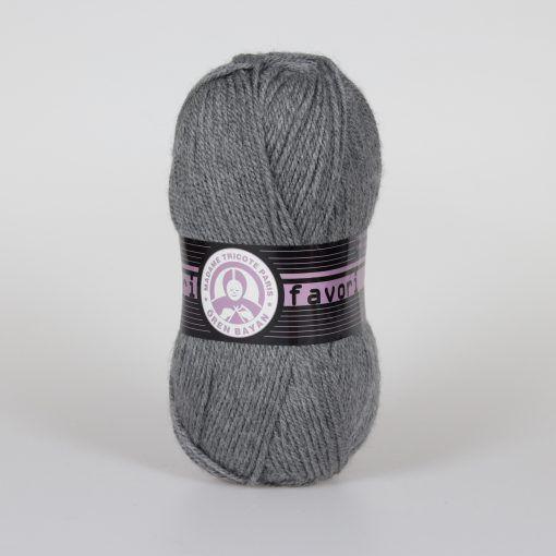 Příze Favori - šedá Madame Tricote Paris