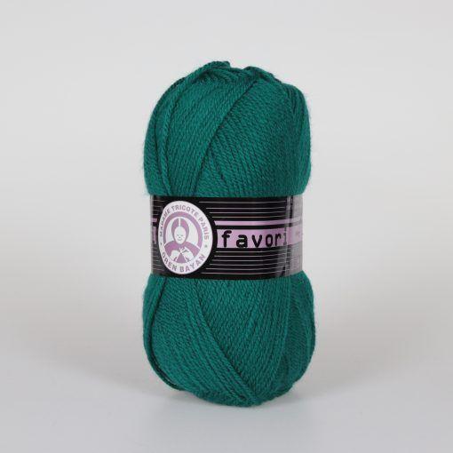 Příze Favori - smaragdová Madame Tricote Paris