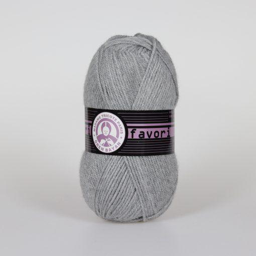 Příze Favori - světle šedá Madame Tricote Paris
