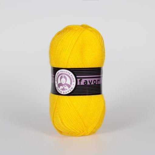 Příze Favori - sytě žlutá Madame Tricote Paris