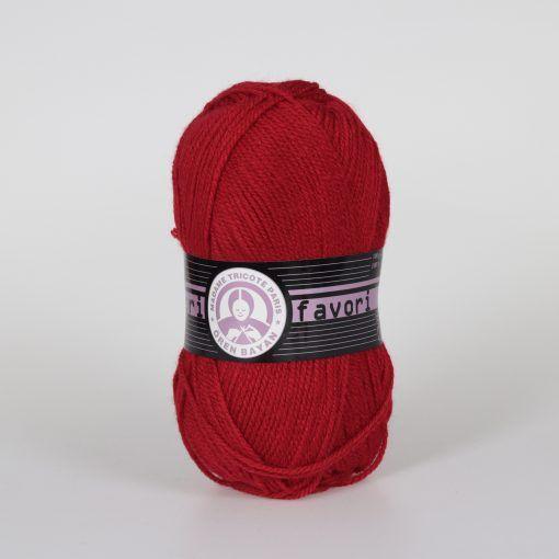 Příze Favori - tmavě červená Madame Tricote Paris