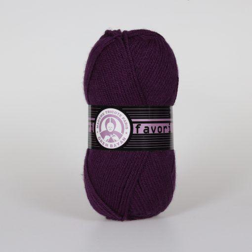 Příze Favori - tmavě fialová Madame Tricote Paris