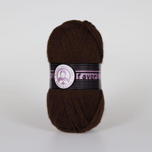 Příze Favori - tmavě hnědá Madame Tricote Paris
