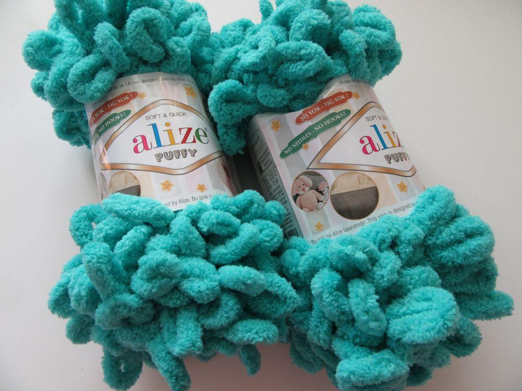 Příze Puffy - azurová Alize