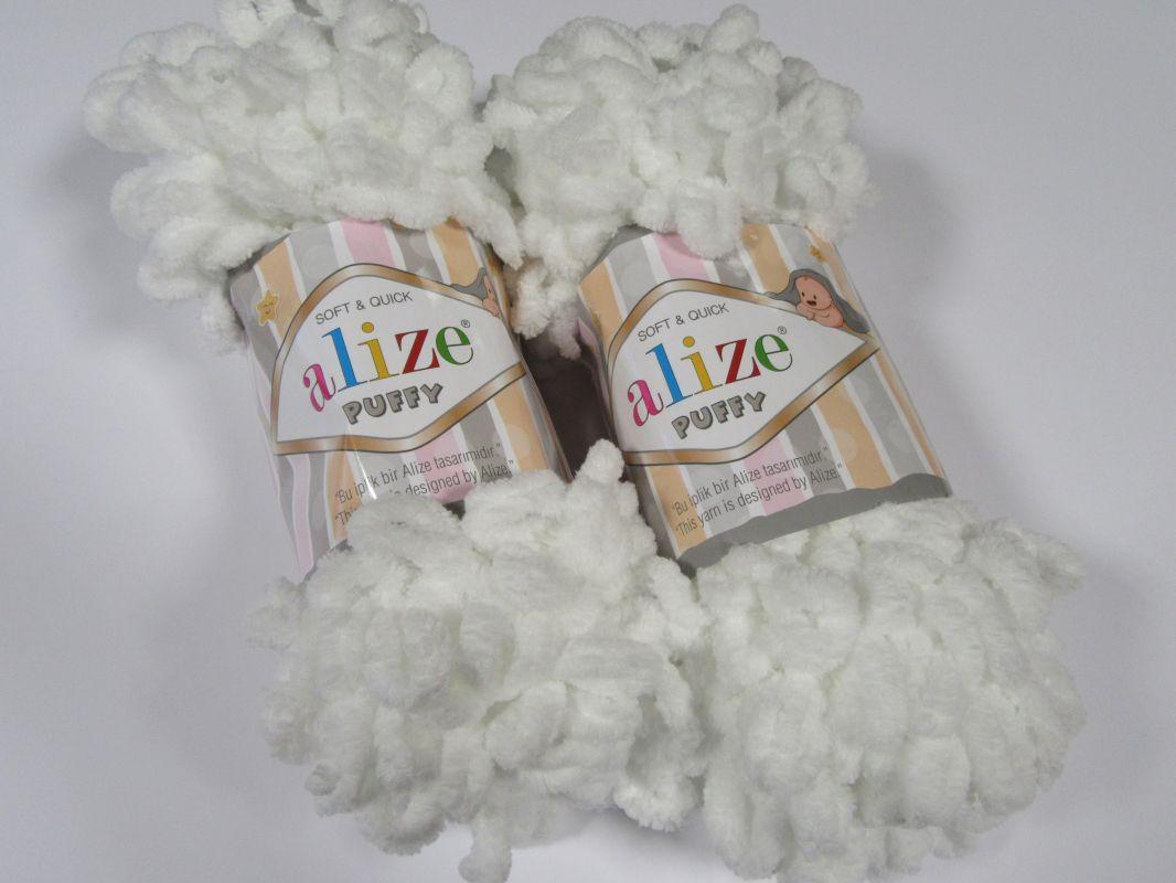 Příze Puffy - bílá Alize