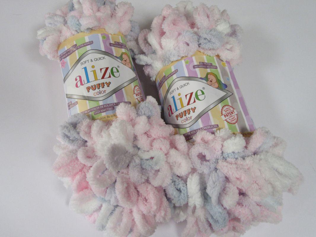 Příze Puffy color - růžová Alize