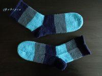 Pletené ponožky - modré ( 38 )